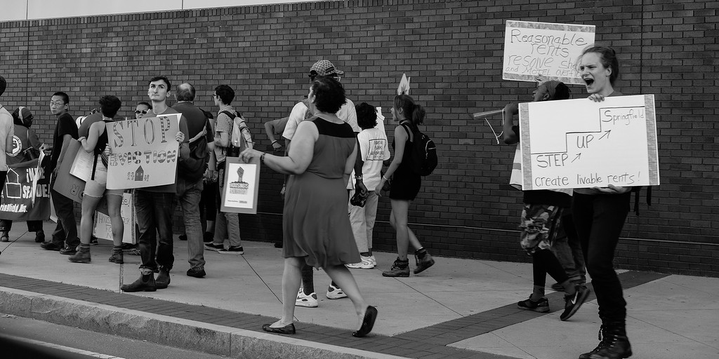 Housing Protest 2, Springfield, MA Sept 2016