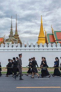 Suan Luang, Bangkok, During mourning for King Bhumibol Adulyadej, November 2016