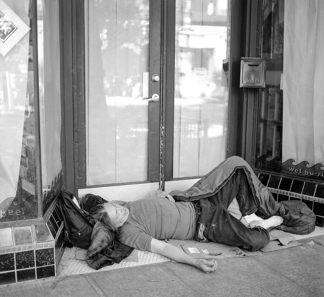 """Sidewalk sleeping"""