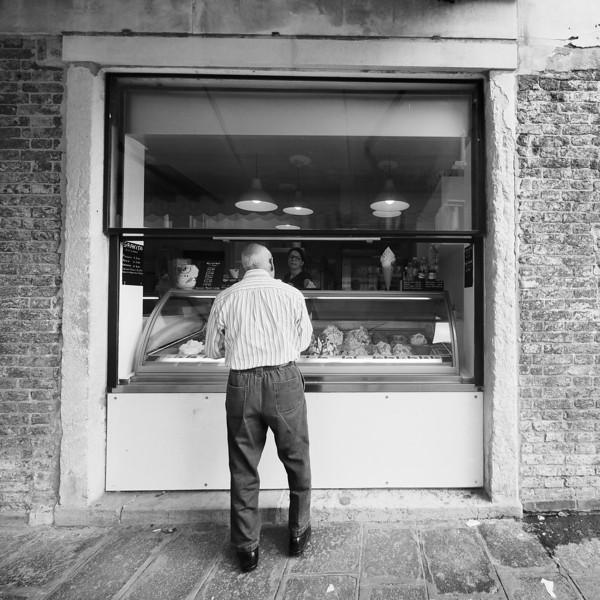 Gelato Customer, Venice, Italy