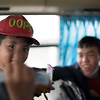 Boy on a bus in Ho Chi Minh City, Vietnam. January 16, 2018. Photo by Lorelei Trammell