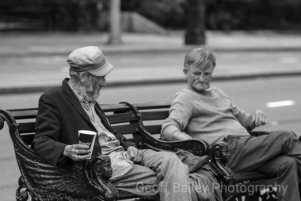 Sharing a bench on the Embankment