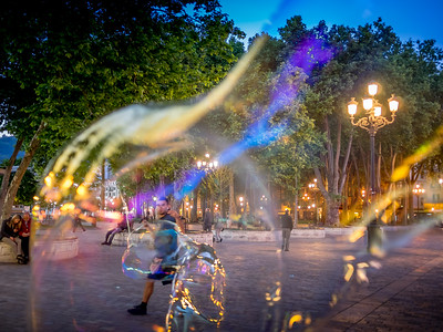 street soap bubbles