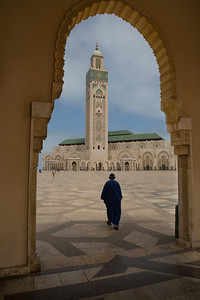 At the Hassan II mosque, Casablanca