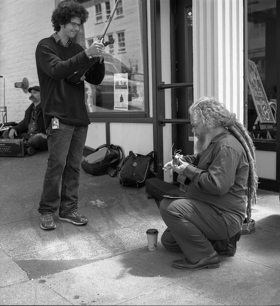 Street musicians, Pike Place Market