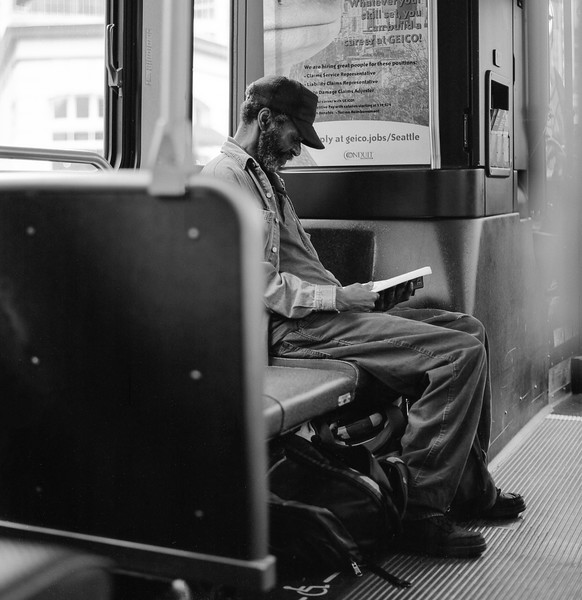 Reading on the light rail