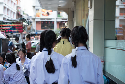 Students are let out of school in Bangkok, Thailand. December 7, 2017. Photo by Lorelei Trammell.