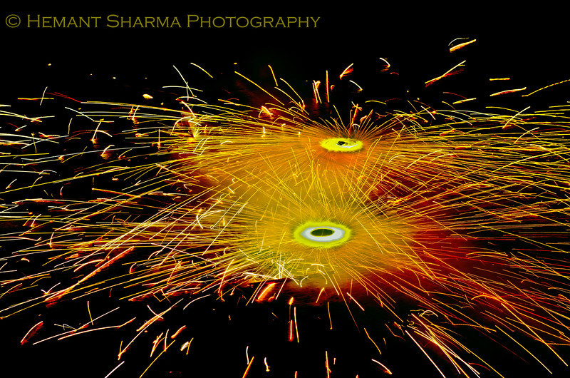 Diwali--- festival of lights...this one is a chakri, a form of fire cracker..