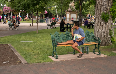 Leg Up On the Park Bench