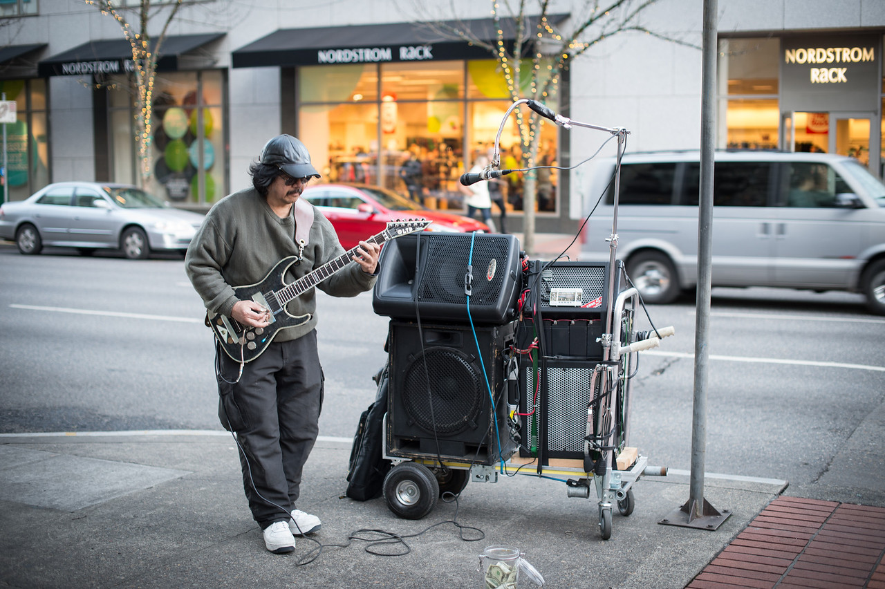 Rocking Street Musician