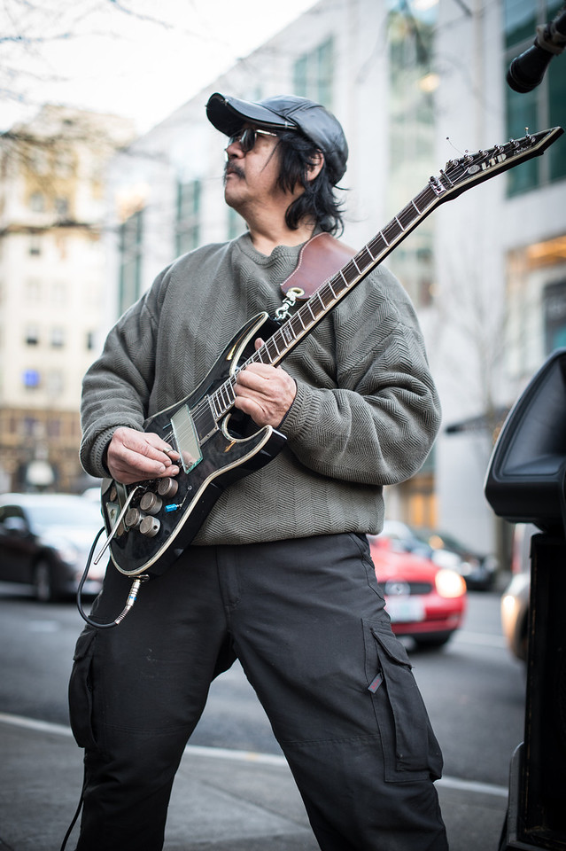 Rocking Guitarist - Bob  - Nikon Df, AFS 50mm 1.4... Shot at F. 2.0