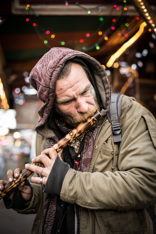 Street Man With Flute