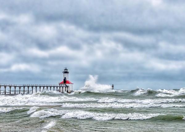 Angry Lake Michigan....