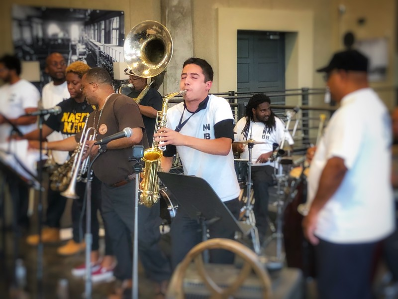 The Nasty Neti Brass band...