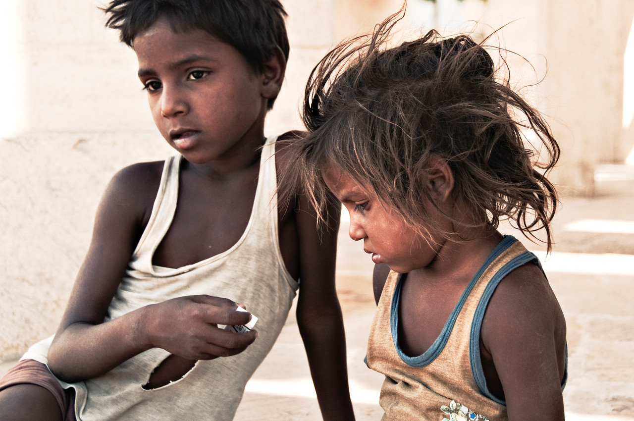 Children at Jantar Mantar