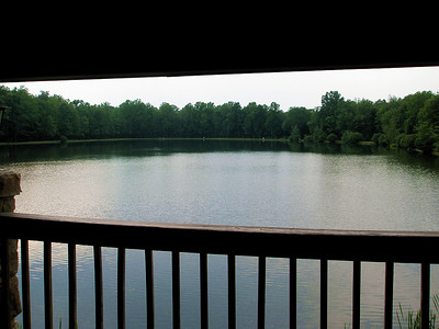 The view from the deck at Blue Mountain Lakes Tavern.