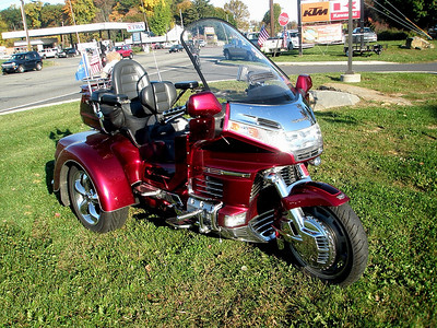 Obviously, the guy that owns this older Honda Gold Wing spends a lot of time looking for doodads and buying polish.