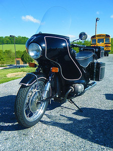 Judy's 1963 BMW, borrowed by husband Bill for the trip, and if he messes it up he's toast!