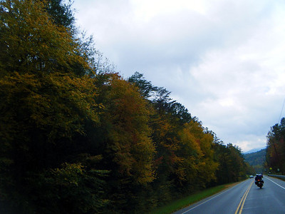 The ride into the Great Smokey National Park was pleasant enough...