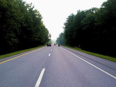 Route 4 ten miles outside of Rutland, Vermont.