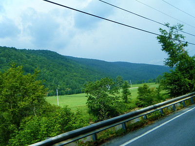 On Vermont Route 100 just after a brief shower