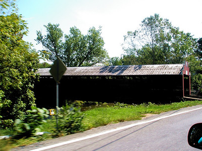 The covered bridge on route 143 below Lenhartsville...