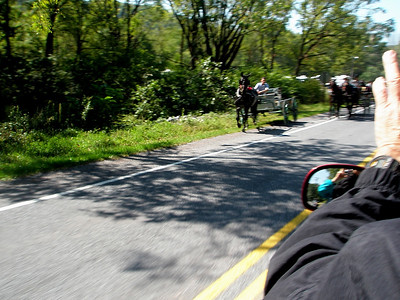 We passed more than a couple of Amish buggies as we rode...
