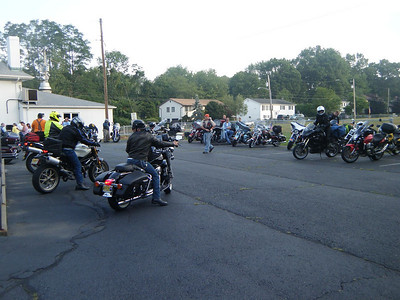 This is just after I pulled into the Ramapo Motorcycle Clubs lot.