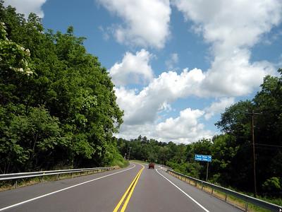 Route 100 headed towards Germansville