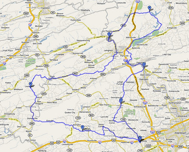 This is the route we took.  120 miles. 5 hours.  Fabulous scenery!
