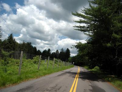 Penn Forest Road leading past the Wild Creek Reservoir