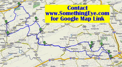 The route.  100+ miles of beautiful scenery on winding roads.  You can get the map of the ride from Google and take a turn by turn tour by car or motorcycle whenever you like.  Enjoy!  Those on the ride said they loved it!  And there's always ice cream at Heislers!