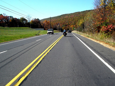 Is there ever a perfect time to catch the fall colors?  Route 54 on Thursday the 23rd is still traffic laden, but the weather is nice and the scenery pretty.