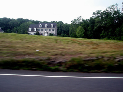 A stone farmhouse along route 100