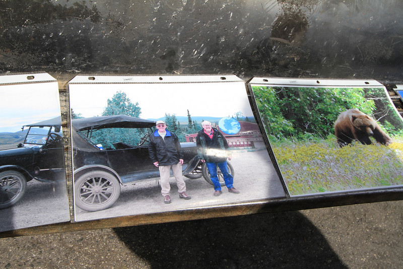 He had several pictures on display showing where he had actually taken this Model T to the Artic Circle twice!