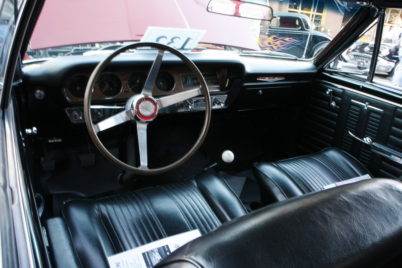 1964 GTO interior.  This vehicle was the classic muscle car that started the muscle car era.