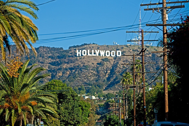 The Hollywood Sign From Beachwood Canyon Drive