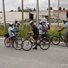 The Musqueam (native band) Bike Patrol chatting up a city bike (as in bicycle) cop.