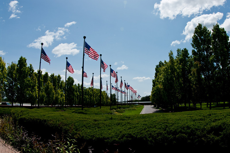 The entrance to the ConAgra campus.