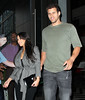NON EXCLUSIVE<br /> 2011 Aug 30 - Kim Kardashian and Kris Humphries head out with an open bottle of drink in NYC .  Photo Credit Jackson Lee