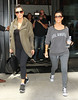Non-Exclusive <br /> 2011 Aug 31 - Kim Kardashian, Kourtney Kardashian head out to the gym while Kris Humphries goes play basketball with a friend in NYC.  Photo Credit Jackson Lee
