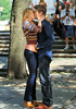 Non-Exclusive <br /> 2011 Sep 1 - Chace Crawford kisses Kaylee DeFer at Grand Army Plaza in NYC .  Photo Credit Jackson Lee