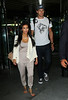Non-Exclusive <br /> 2011 Sept 5 - Kim Kardashian and Kris Humphries arrive at LaGuardia Airport in NYC  Photo Credit Jackson Lee