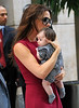Non-Exclusive <br /> 2011 Sept 8 - Victoria Beckham debuts baby Harper Seven Beckham during fashion week in NYC!  These are the first shots of mother and daughter in New York.  Photo Credit Jackson Lee