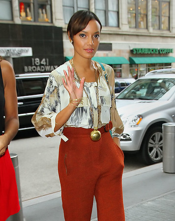 Non-Exclusive <br /> 2011 Sept 11 - Selita Ebanks out and about in NYC  Photo Credit Jackson Lee