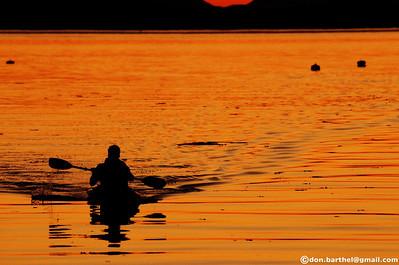 2012-08-15 Sunset at Village Bay Mayne Island