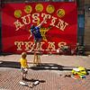 Street Performer on 6th Street.Pecan Street Festival Austin,TX
