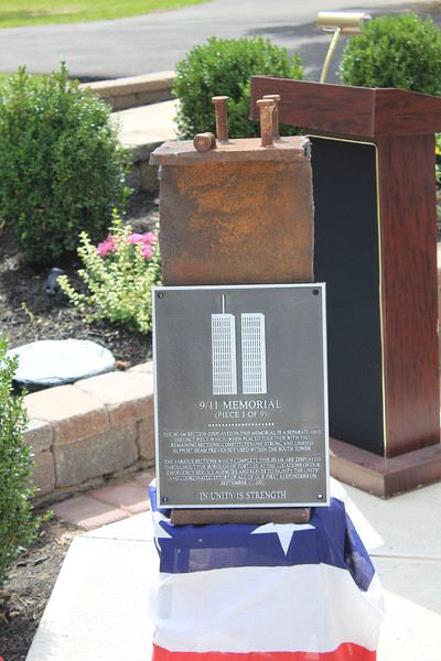 Fort Lee, NJ - Constitution Park - A girder that has been split into 9 pieces will pay tribute at each of the firehouses, police station, ambulance corp, boro hall.