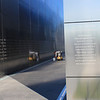 Jersey CIty, NJ - Empty Sky Memorial.  The two walls represent the two WTC buildings and are 208 feet 10 inches long representing how wide the WTC was.