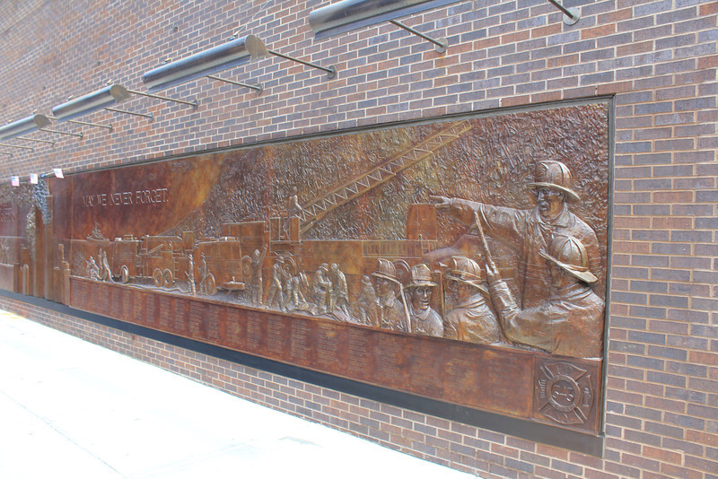 New York City - FDNY Memorial Wall at 10 House.